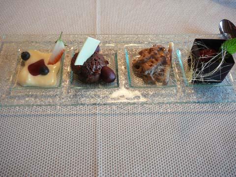 """Le chocolat dans tous ces états !!! plantation """"Cluizel"""", compotée de fruits rouges"""