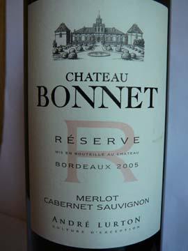 Château Bonnet Réserve  2005