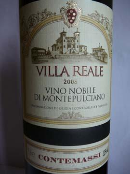 Vino Nobile di Montepulciano, Villa Reale, 2008