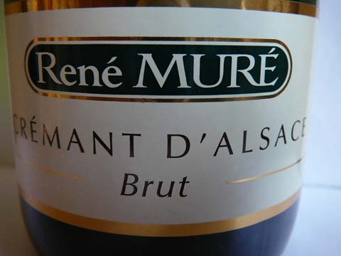 Crémant d'Alsace Brut, René Muré