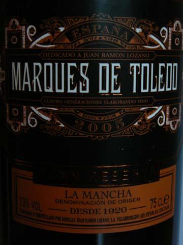 Marques de Toledo Gran Reserva 2005