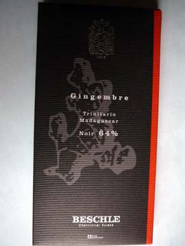 Chocolat Beschle Gingembre Trinitario Madagascar 64%