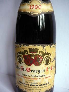 Nuit-Saint-Georges 1er Cru Les Chaboeufs Gavignet 1990