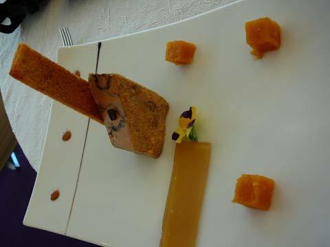 Foie gras de canard au café
