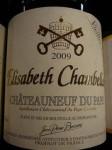 Châteauneuf du Pape Elisabeth Chambellan rouge 2009