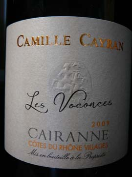 Cairanne Voconces Rouge 2009