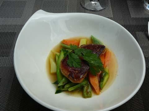 Pot au feu de foie gras de canard du Sud Ouest