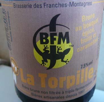 Bière la Torpille Brasserie des Franches Montagnes