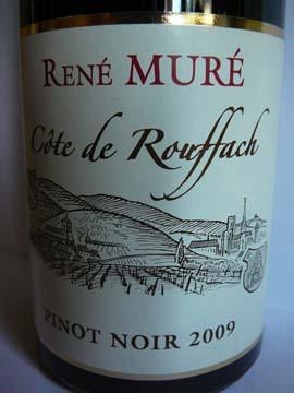 Pinot Noir Côte de Rouffach René Muré 2009