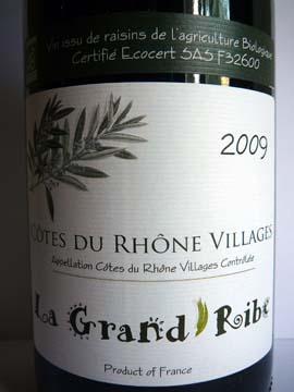 Le Grand Ribe Côtes du Rhône Villages 2009