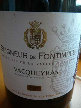 Vacqueyras Seigneur de Fontimple 2010