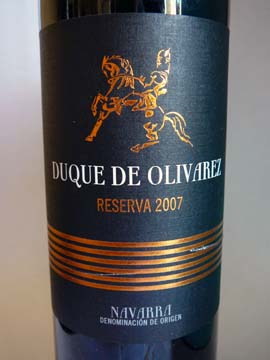 Duque De Olivarez Reserva 2007