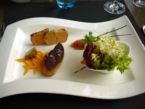Duo de foie gras poêlé et mi-cuit au foie gras