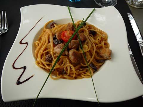 Spaghetti aux sot-l'y-laisse et morilles