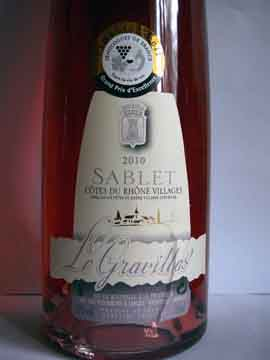 Sablet Rosé 2010, Le Gravillas