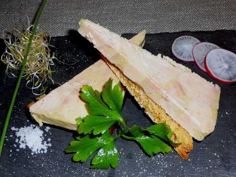 Foie gras terrine sur son pain d'épice