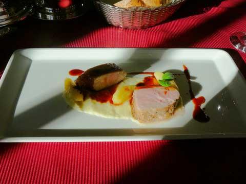 """Selle de porc """"Pata Negra"""", purée de céleri, pomme"""
