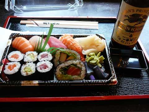 Mikado Genève 1/2 portion de sushis et bière Kirin