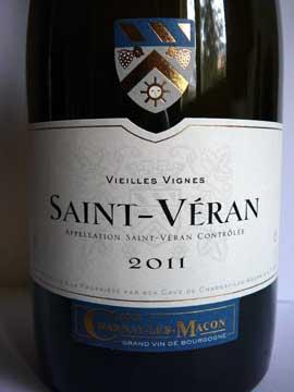Saint-Véran Vieilles Vignes 2011, Cave de Charnay-les-Mâcon
