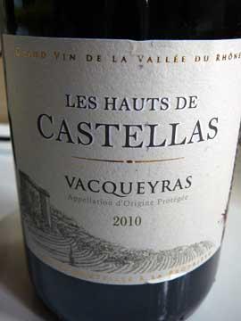 Vacqueyras Les Hauts de Castellas 2010