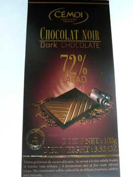 Chocolat Noir 72% Cémoi