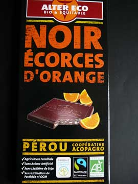 Chocolat Alter Eco Noir Ecorces d'Orange