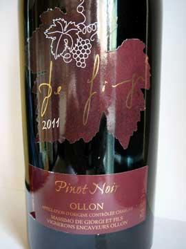 Pinot Noir 2011, De Giorgi