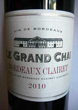 Bordeaux Clairet 2010, Le Grand Chai