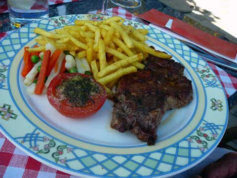 Côtelette de porc, frites