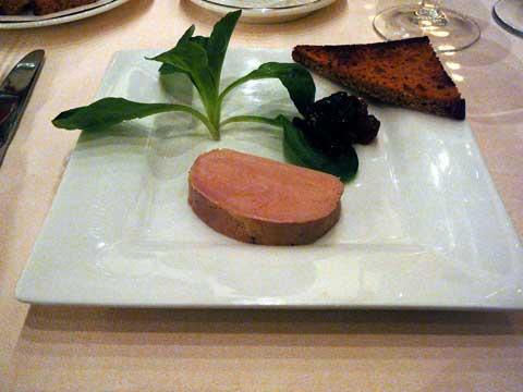 Marbré de foie gras au naturel, pain d'épices grillé