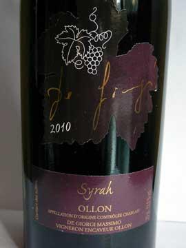 Syrah 2010, De Giorgi