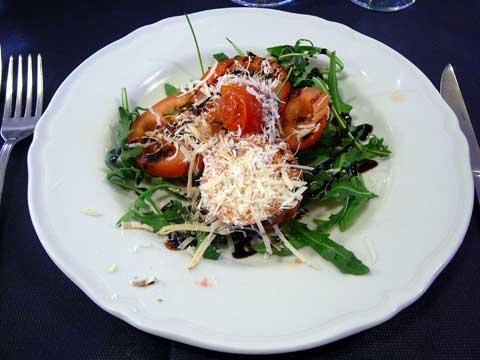 Salade all'italiana (rucola, tomates, parmesan)