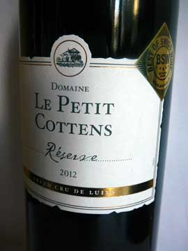 Le Petit Cottens Réserve 2012