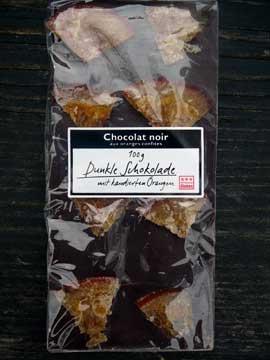 Chocolat noir aux oranges confites Globus