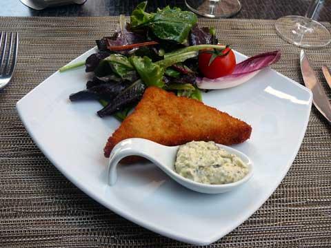 Croustillant de tête de veau en salade