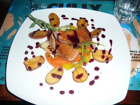 Filet de canettes au cassis