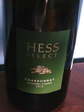 Chardonnay Hess Monterey County 2012