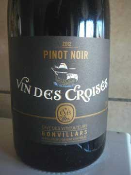 Vin des Croisés Pinot Noir 2012