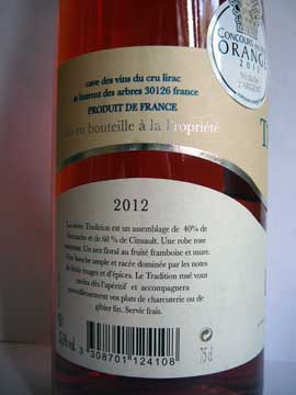 Cave de Lirac Rosé Tradition 2012