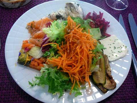 Restaurant des Bains de Lavey :  Buffet d'entrées