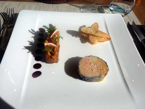 Ballottine de canette sauvagine poire & foie gras