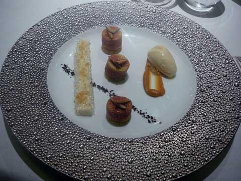 Restaurant 1741 Strasbourg : Figue rôtie, miel de nos montagnes, panacotta et glace