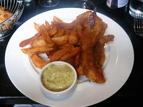 Restaurant la Hache, Strasbourg : Fish & chips, vinaigre de malt, sauce tartare
