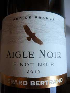 Aigle Noir Pinot Noir 2012, Gérard Bertrand