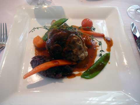 Café du Raisin, Begnins : Souris d'agneau confit et son jus