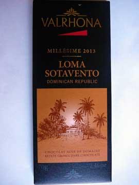 Chocolat Valrhona Loma Sotavento 2013