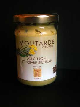 Moutarde Veloutée au Citron et Poivre Sichouan, Moulin de Sévery
