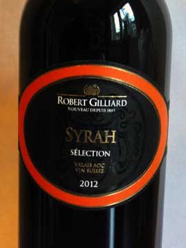 Syrah Sélection 2012, Robert Gilliard