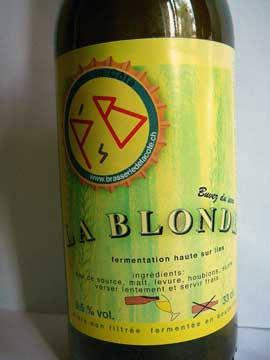 Bière Blonde Brasserie de la Côte