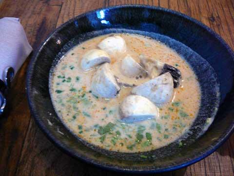 Potage de champignons à la citronnelle